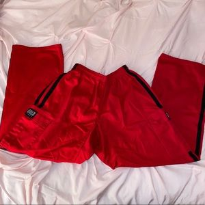 Red and Black Utility Pants